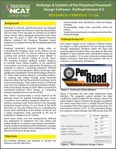 Perpetual Pavement Design Software PerRoad Version 4.3