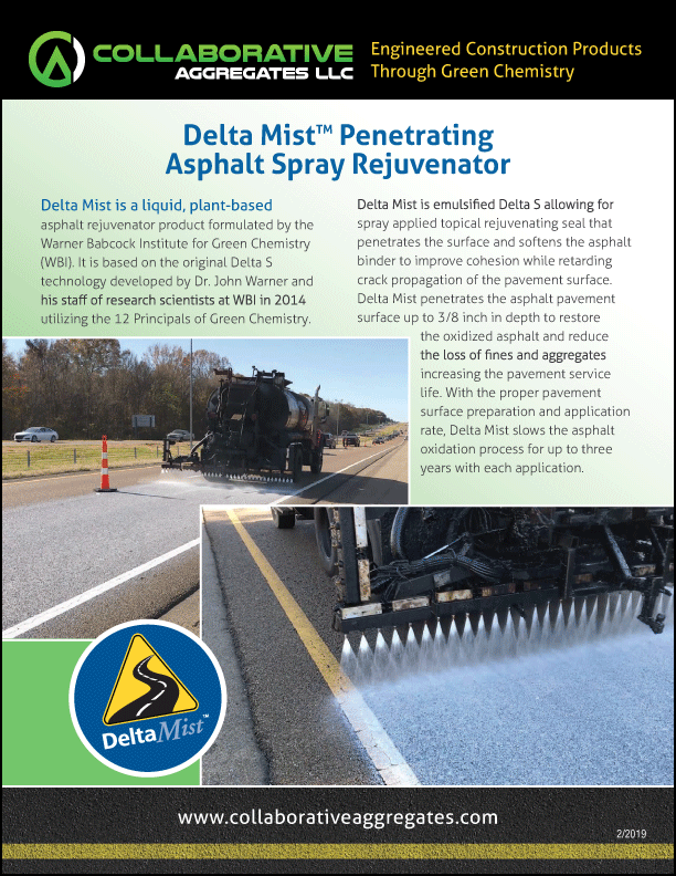 Delta Mist: Penetrating Asphalt Spray Application