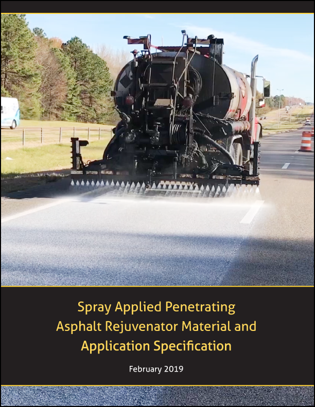 Spray Applied Penetrating Asphalt Rejuvenator Material and Application Specification